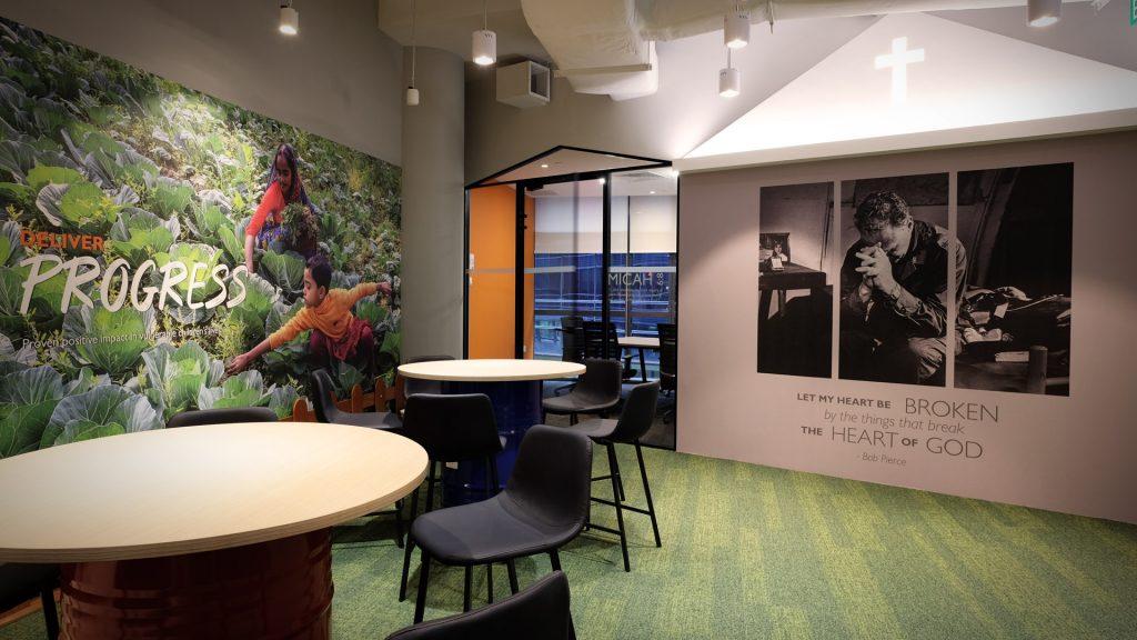 Inspiration Office Design Worldvision Singapore