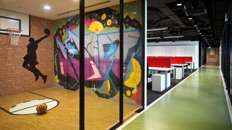 Interior Design Game Room at Hsl Singapore