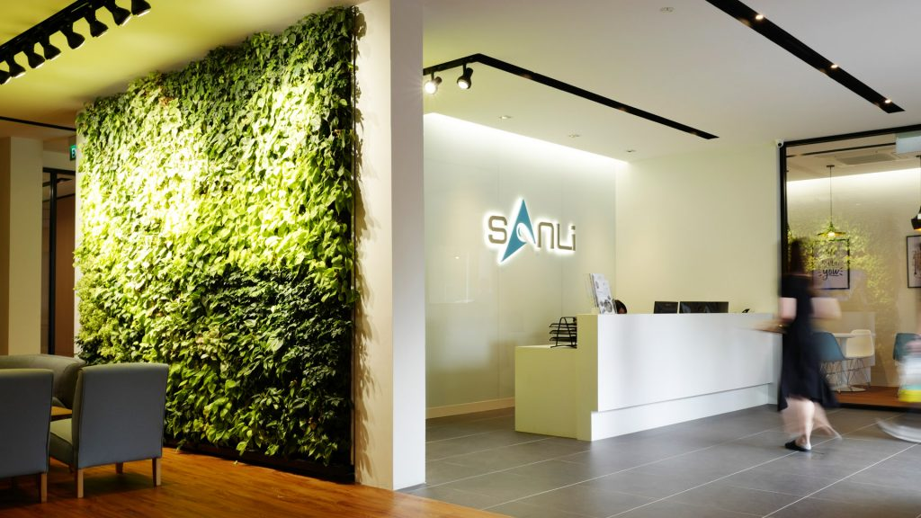 Office Interior Reception Design at Sanli